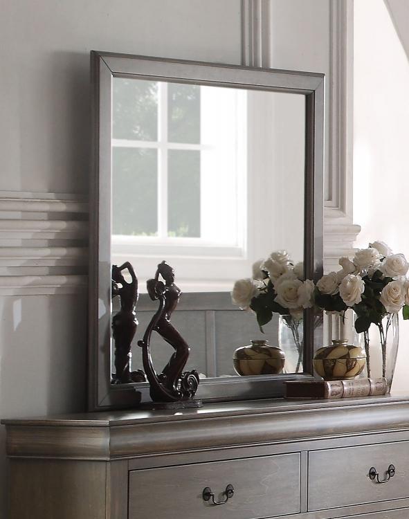 Louis Philippe Mirror - Antique Gray