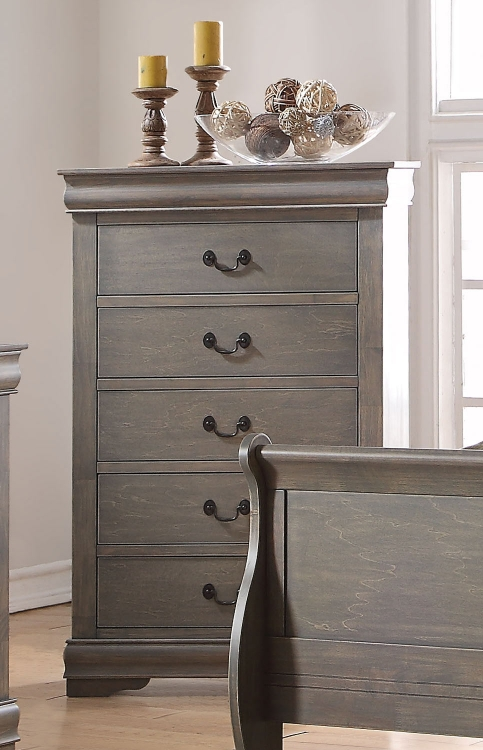 Louis Philippe Chest - Antique Gray