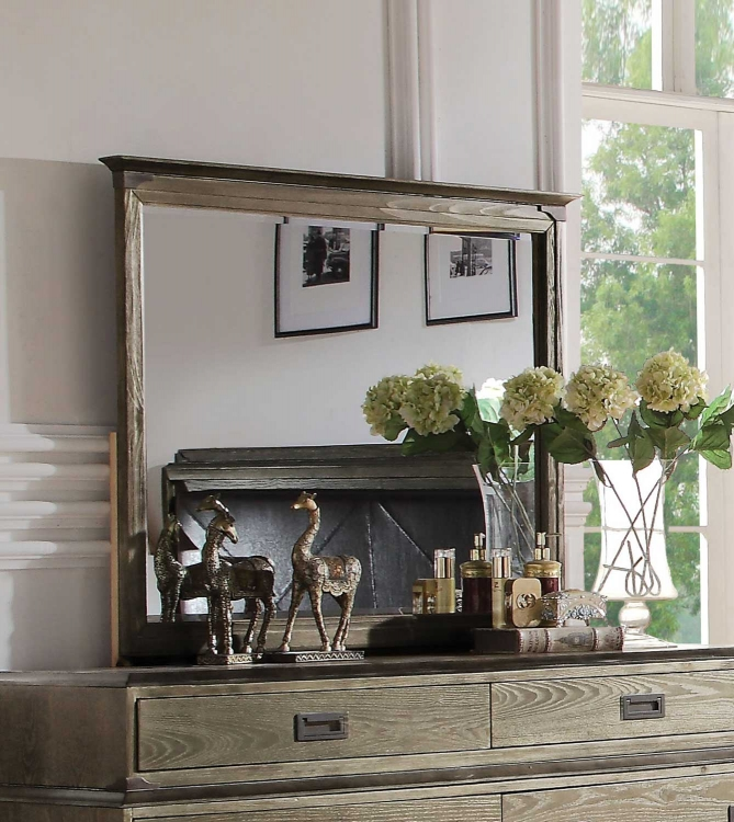 Athouman Mirror - Weathered Oak