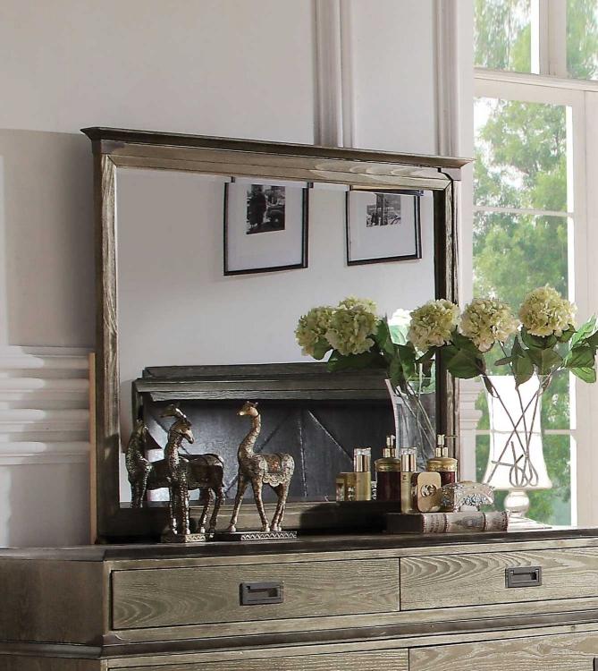 Athouman Mirror - Weathered Oak