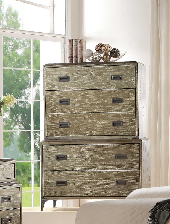 Athouman Chest - Weathered Oak