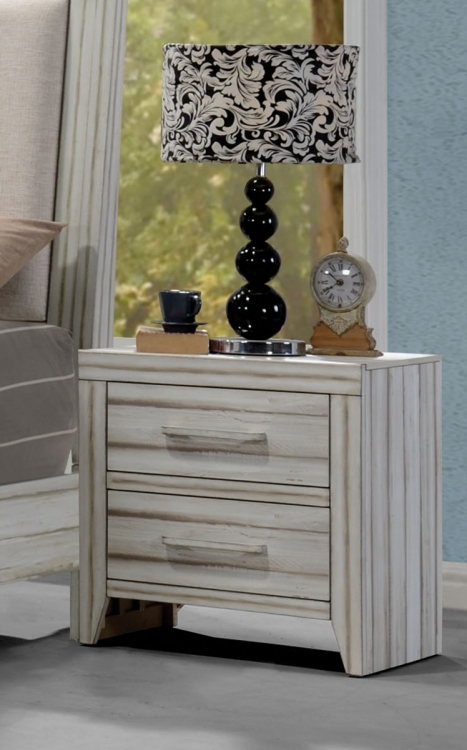 Shayla Nightstand - Antique White