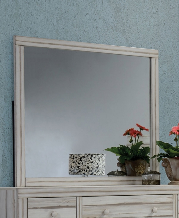 Shayla Mirror - Antique White