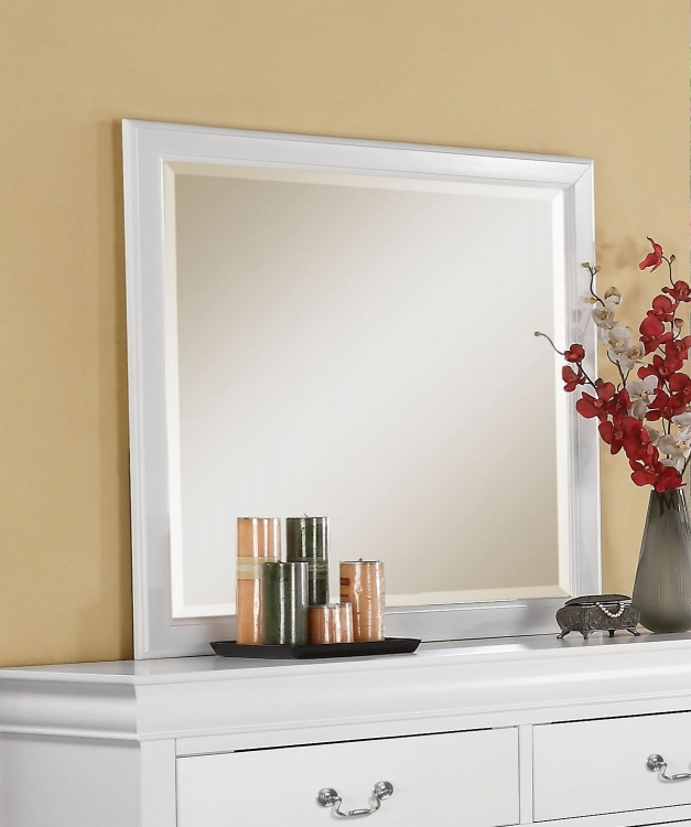 Louis Philippe III Mirror - White