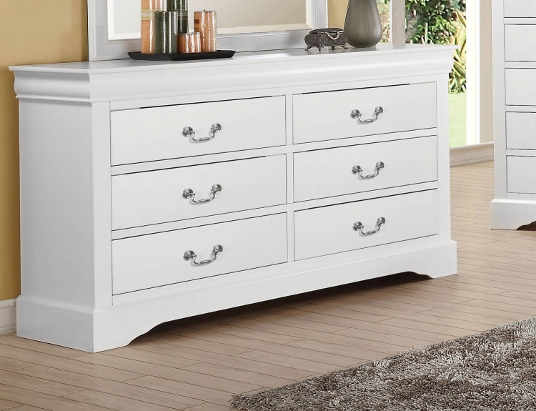 Louis Philippe III Dresser - White