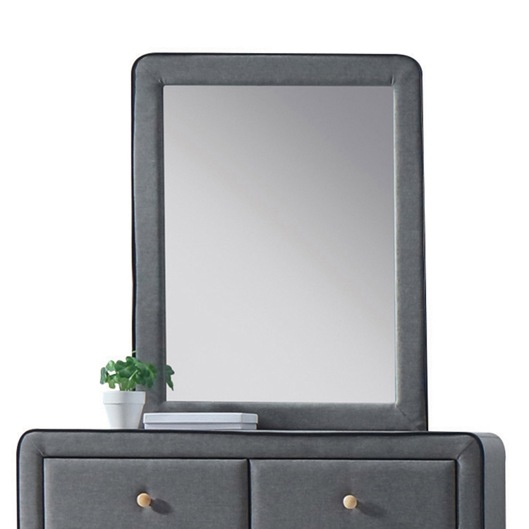 Valda Mirror - Light Gray Fabric