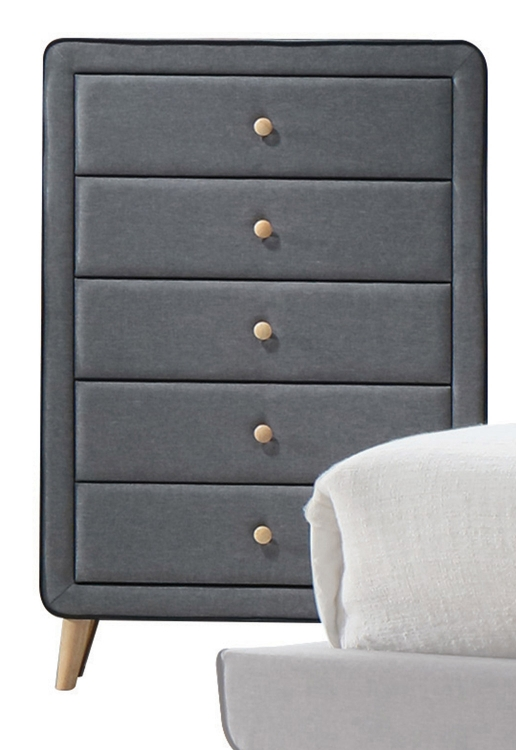 Valda Chest - Light Gray Fabric