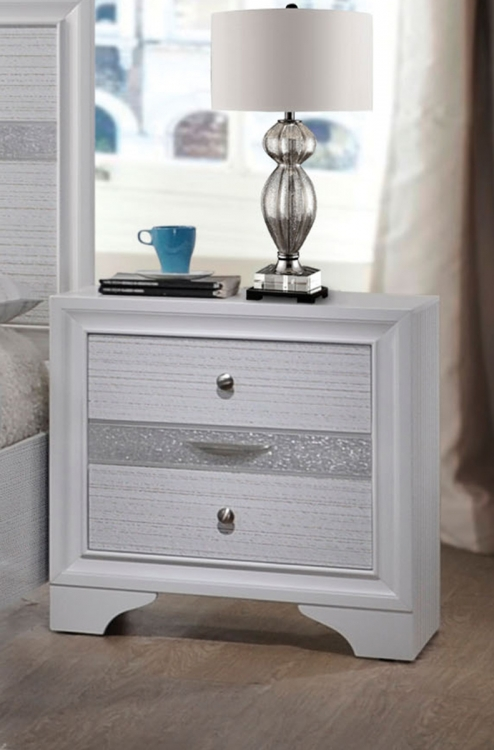 Naima Nightstand - White