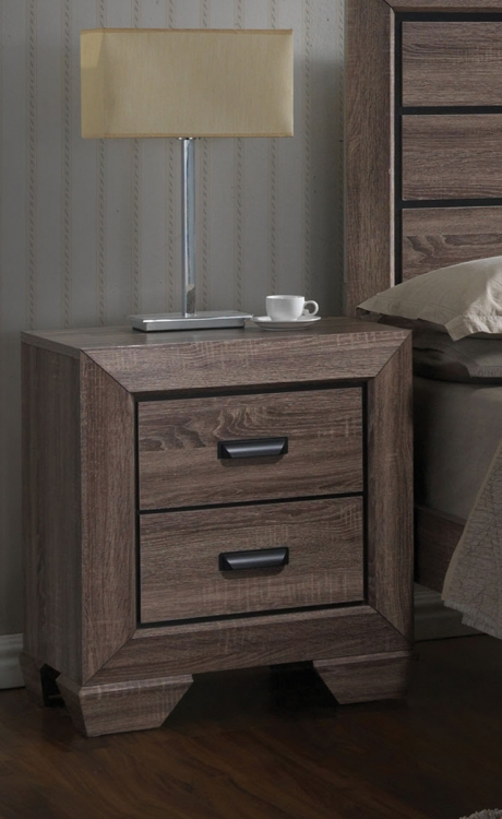 Lyndon Nightstand - Weathered Gray Grain