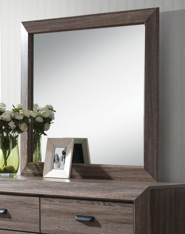 Lyndon Mirror - Weathered Gray Grain