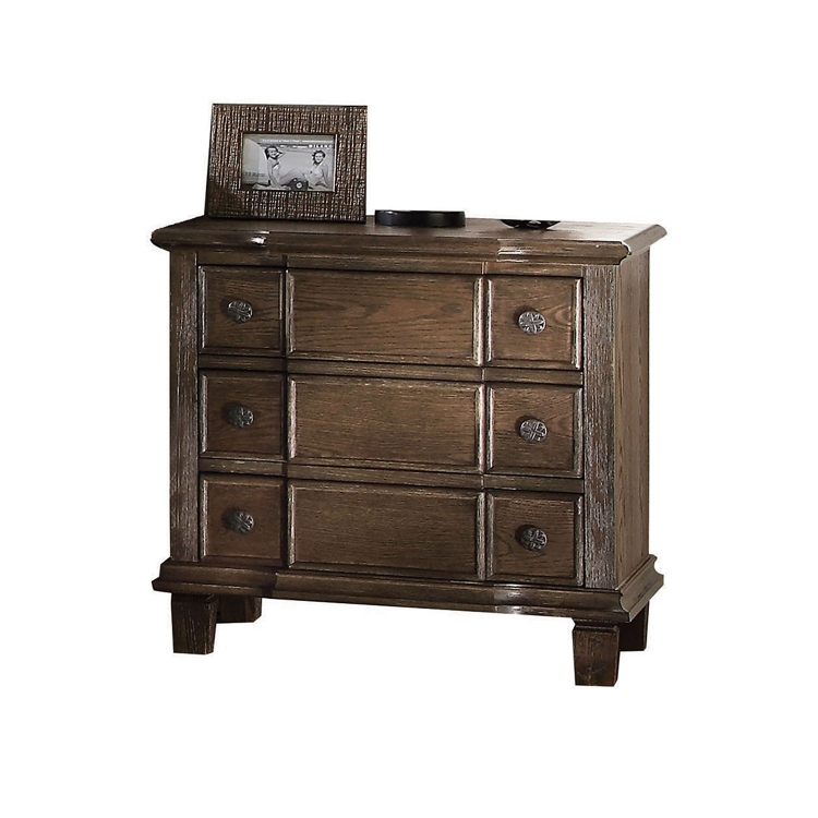 Baudouin Nightstand - Weathered Oak