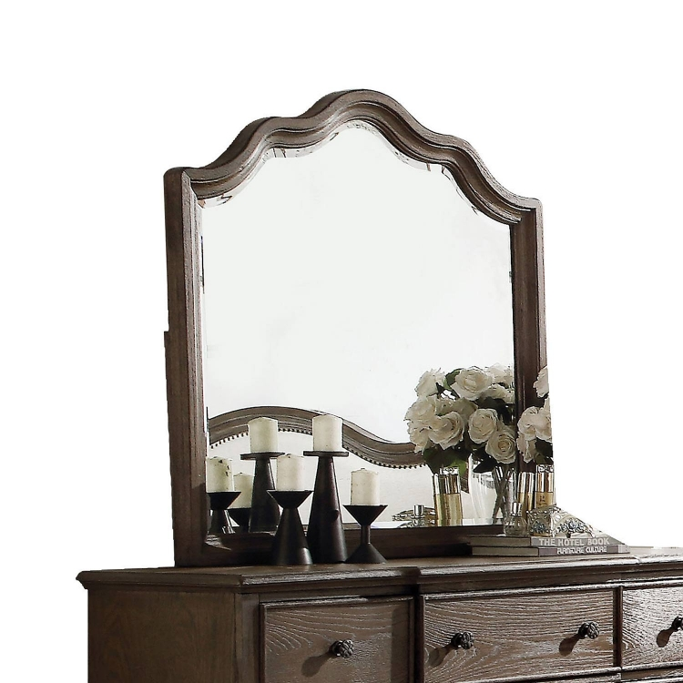Baudouin Mirror - Weathered Oak