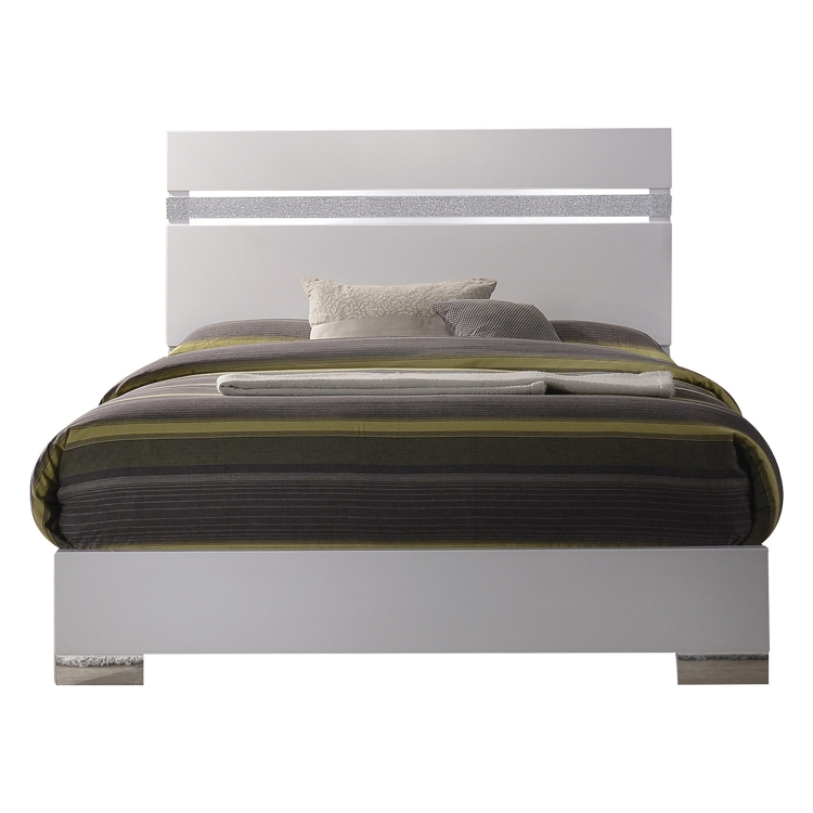 Naima II Bed - White (High Gloss)