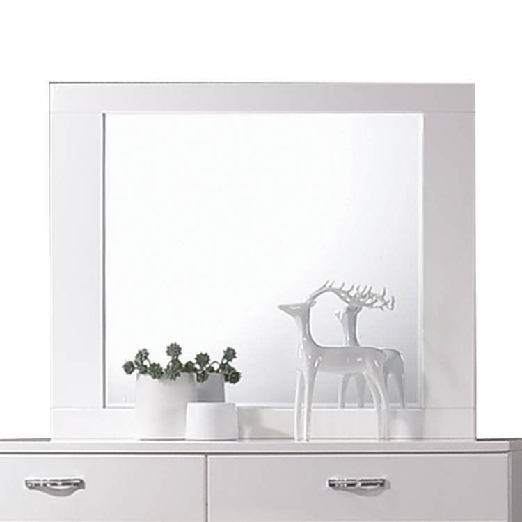 Naima II Mirror - White (High Gloss)