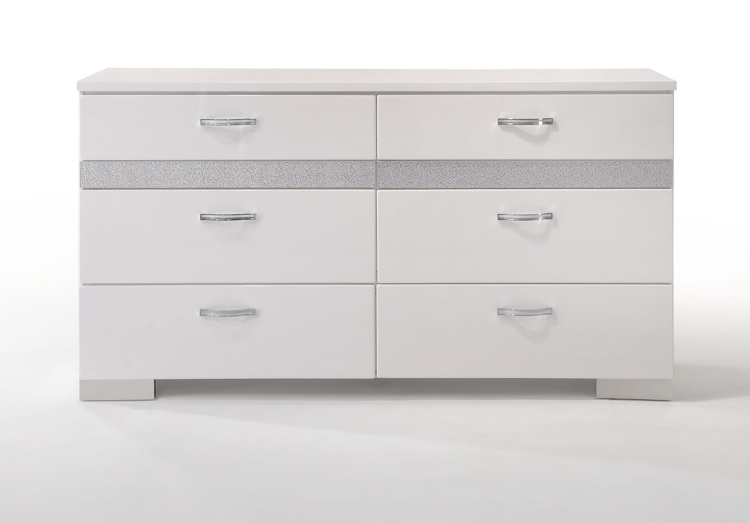 Naima II Dresser - White (High Gloss)