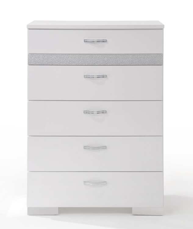Naima II Chest - White (High Gloss)