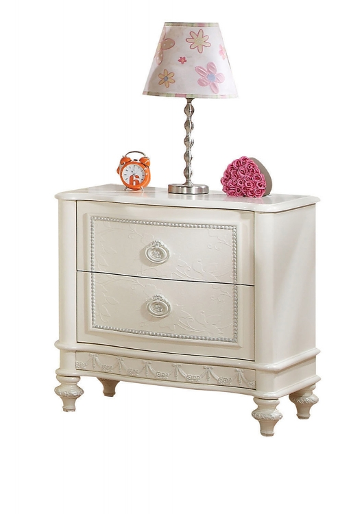 Dorothy Nightstand with 2 Drawer - Ivory