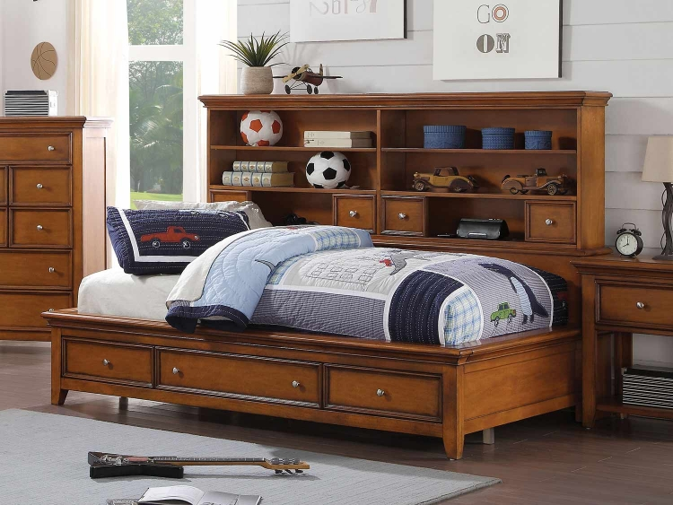 Lacey Daybed with Storage - Cherry Oak