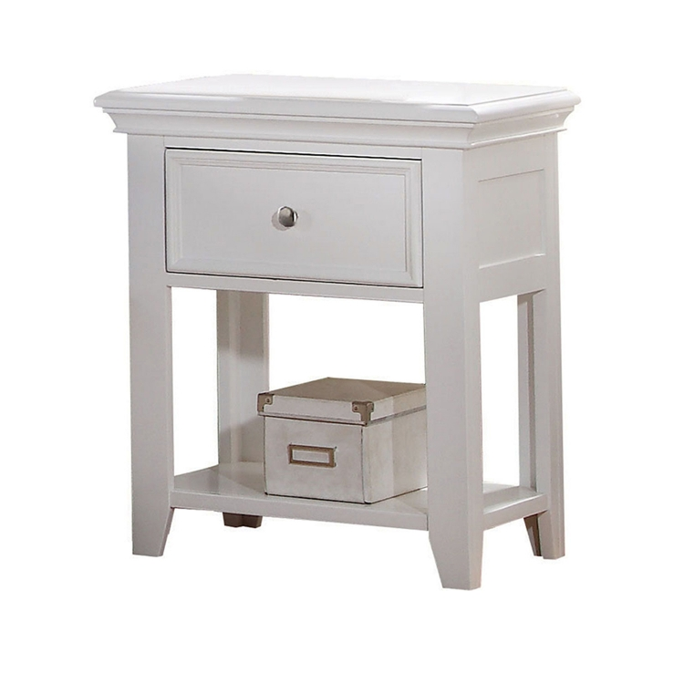 Lacey Nightstand with Drawer - White