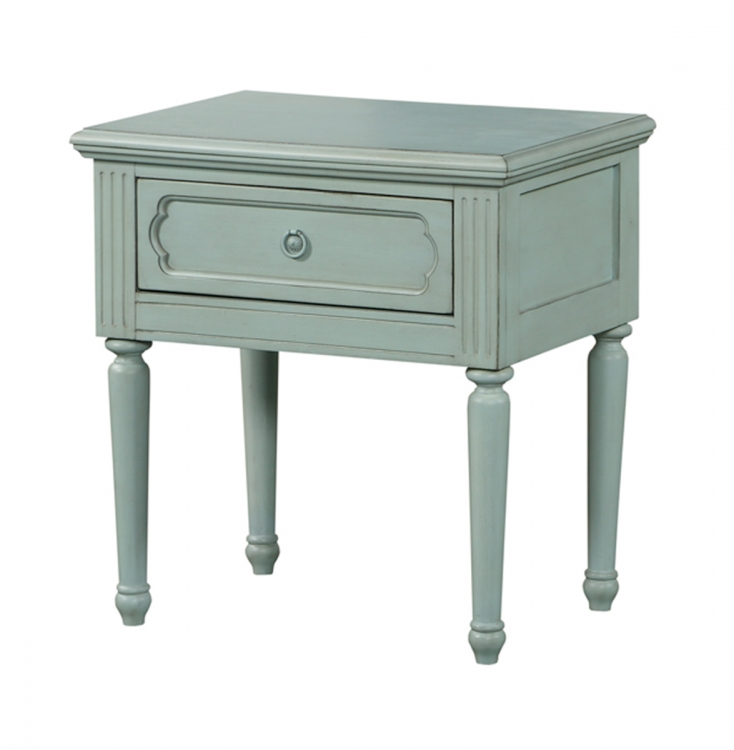 Morre Nightstand - Antique Teal