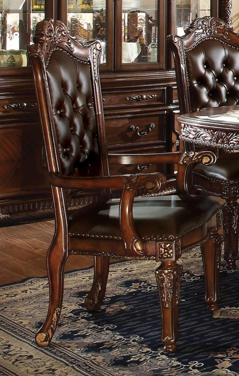 Vendome Arm Chair - Vinyl/Cherry
