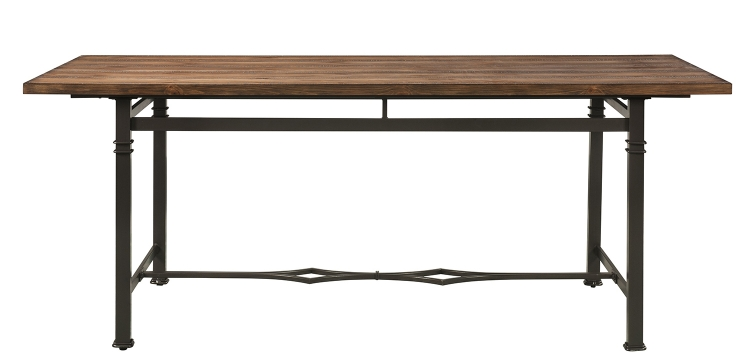 LynLee Dining Table - Weathered Dark Oak/Dark Bronze