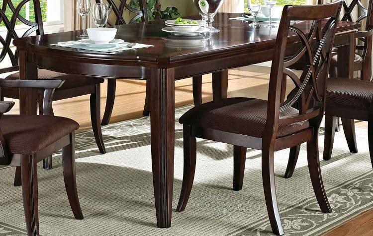 Keenan Dining Table - Dark Walnut