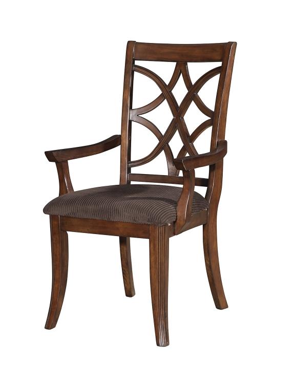Keenan Arm Chair - Brown MFB/Dark Walnut