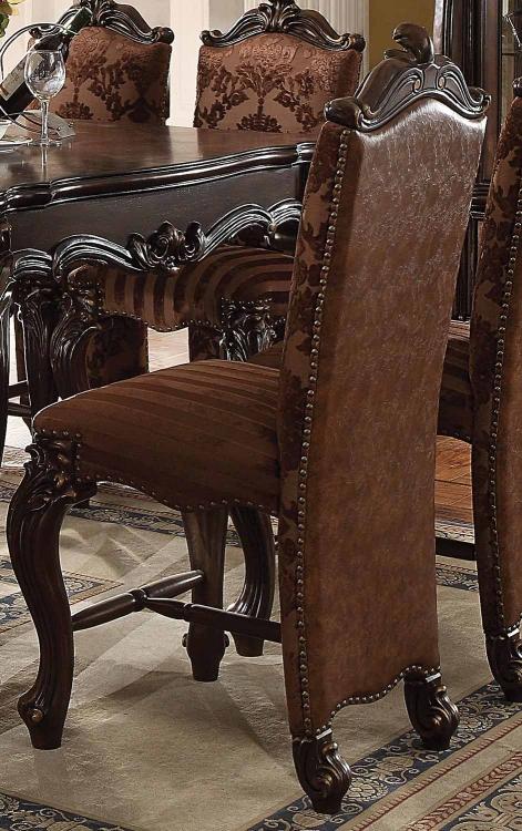 Versailles Counter Height Chair - 2-Tone Light Brown Vinyl/Cherry Oak