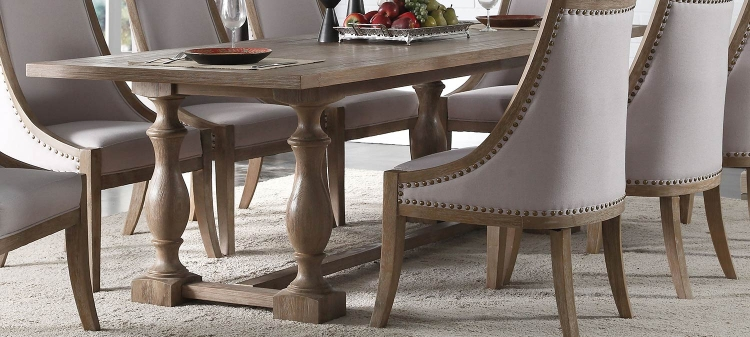 Eleonore Dining Table - Weathered Oak