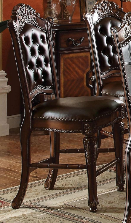Vendome Counter Height Chair - Vinyl Cherry