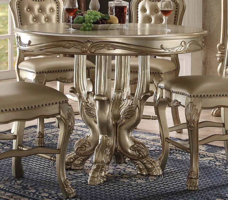 Dresden Counter Height Table - Gold Patina/Bone