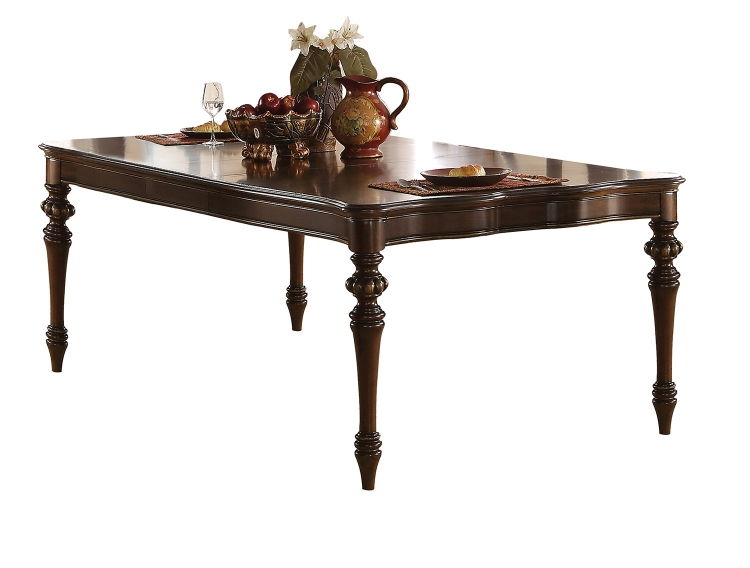 Azis Dining Table - Dark Walnut