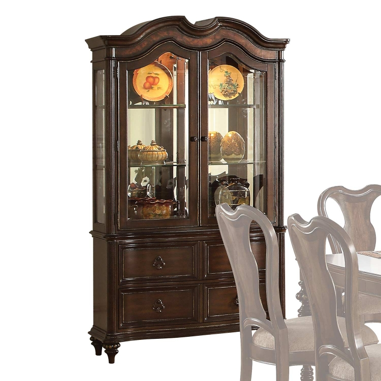 Azis Hutch and Buffet - Dark Walnut
