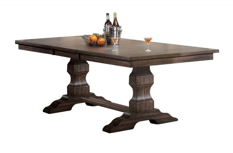 Aurodoti Dining Table with Double Pedestal - Oak