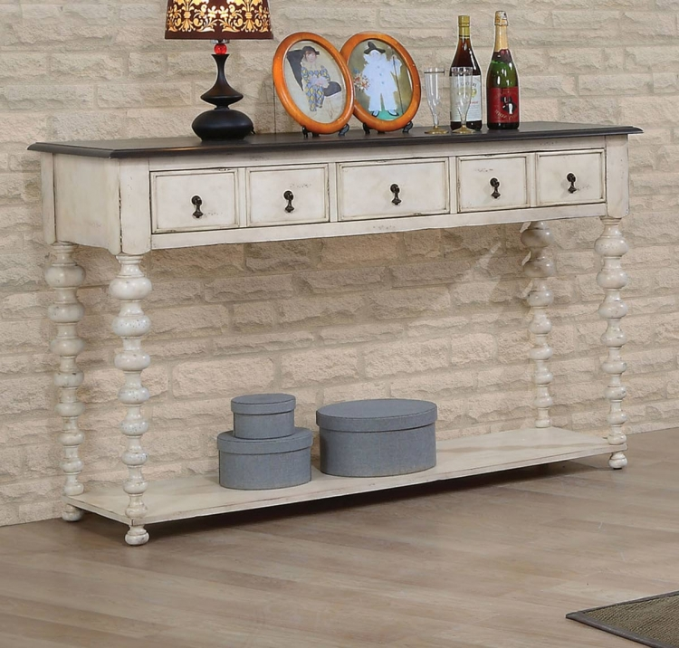 Coyana Server - Antique White/Gray
