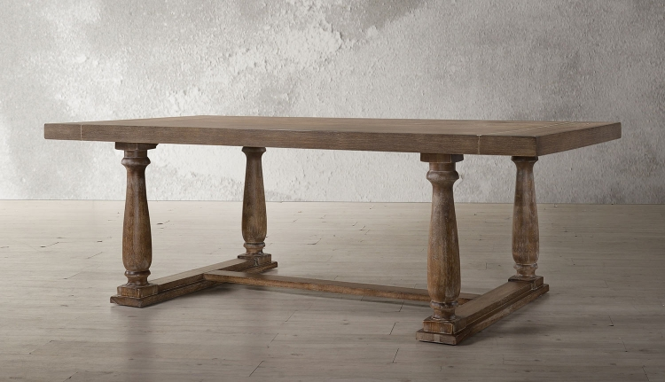 Bernard Dining Table - Weathered Oak