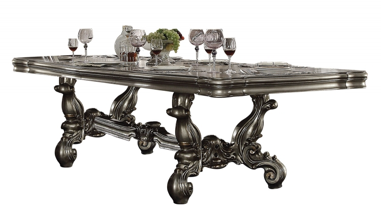 Versailles Dining Table (120L) - Antique Platinum