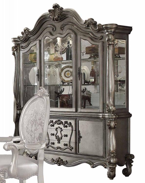 Versailles Hutch and Buffet - Antique Platinum