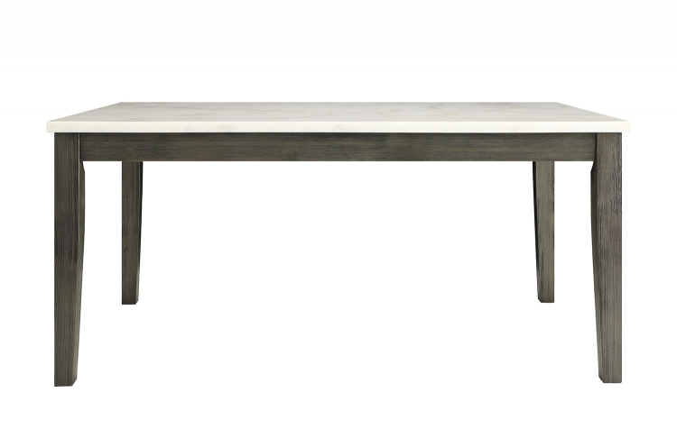 Merel Dining Table - White Marble/Gray Oak
