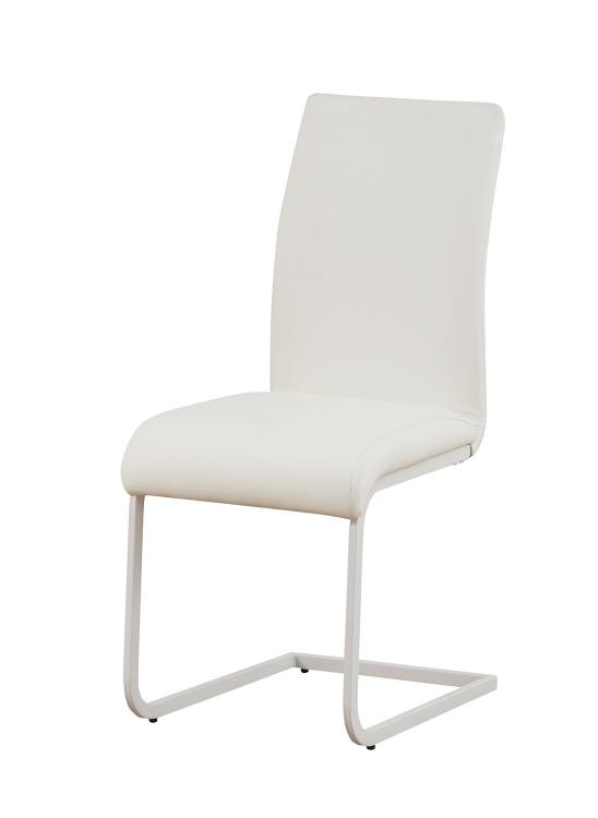 Gordie C Metal Shape Side Chair - White Vinyl