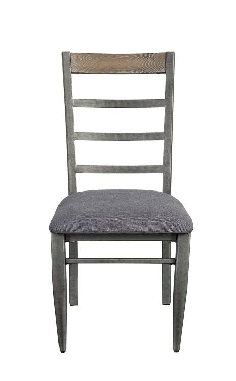 Ornat Side Chair - Gray Fabric/Antique Gray