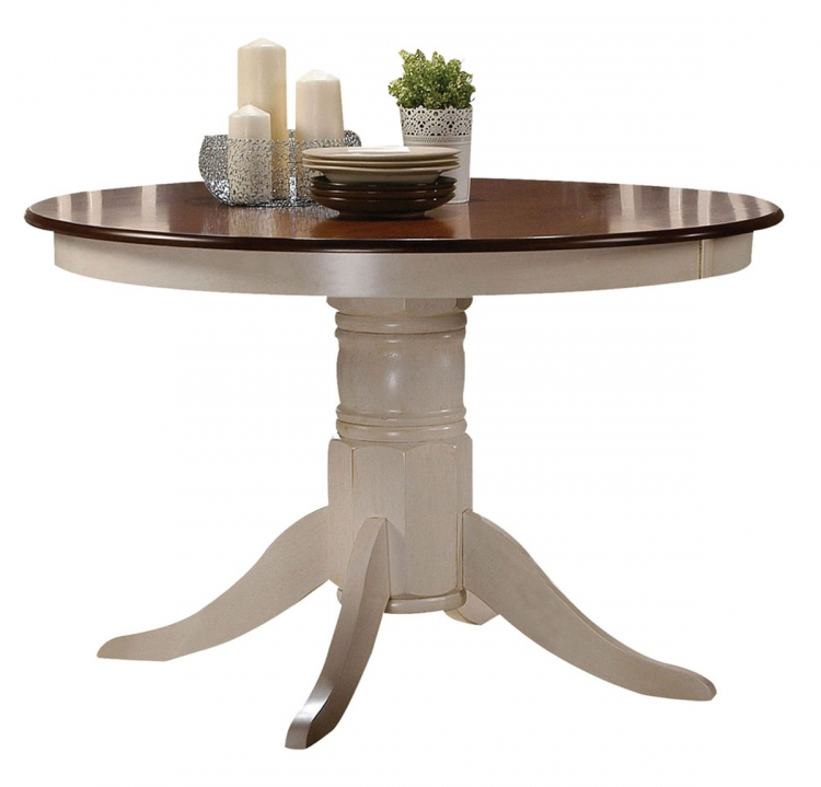 Dylan Dining Table - Buttermilk/Oak