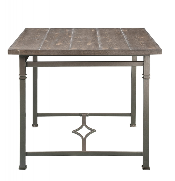 LynLee Counter Height Table - Weathered Dark Oak/Dark Bronze