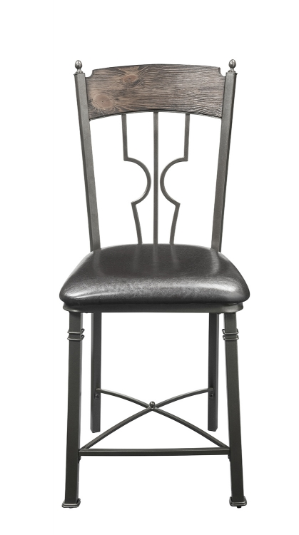 LynLee Counter Height Chair - Espresso Vinyl/Dark Bronze