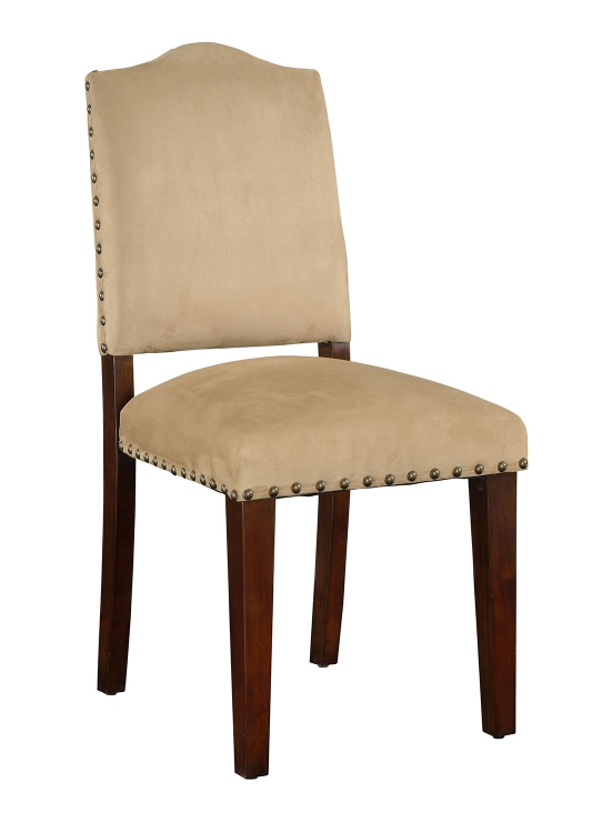Bandele Side Chair - Sand/Walnut
