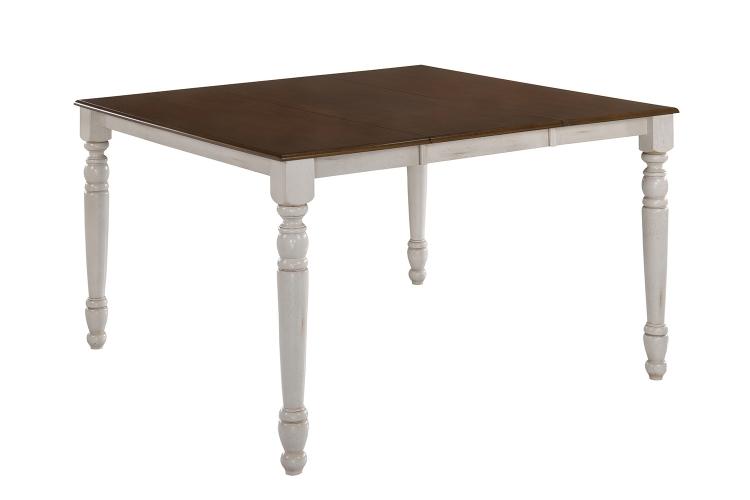 Dylan Counter Height Table - Buttermilk/Oak