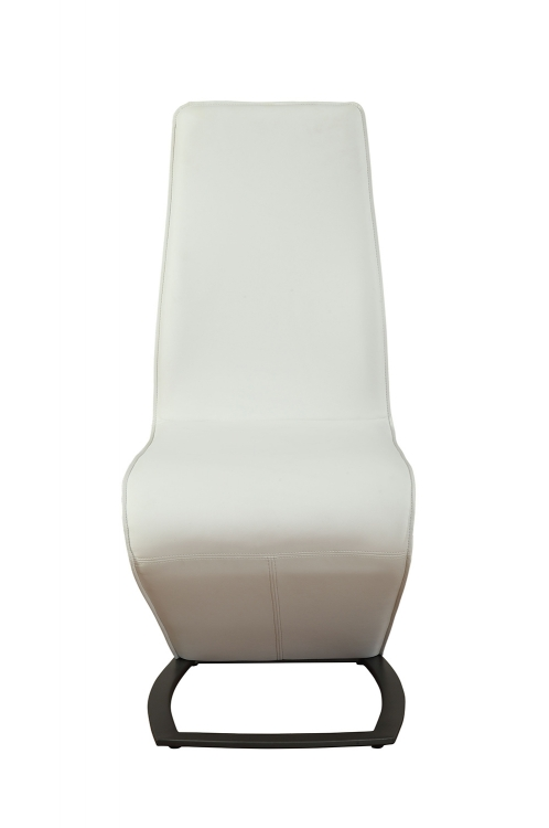 Hassel Side Chair - White Vinyl/Gunmetal