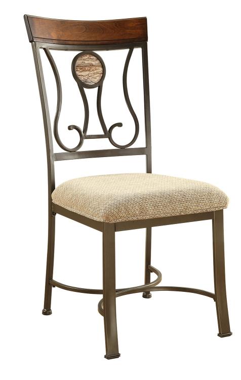 Barrie Side Chair - Faux Marble/Cherry Oak/Dark Bronze