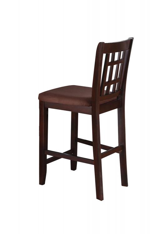 Adalia Counter Height Chair - Dark Chocolate/Walnut